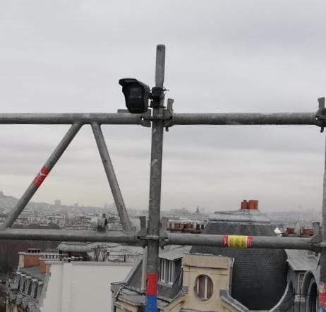 Alarme échafaudage - Détecteur sur Chantier BTP