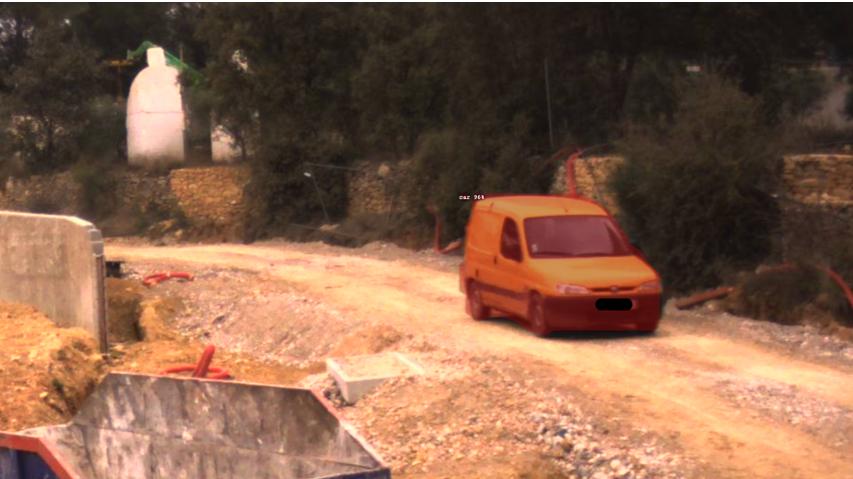 Détection des véhicules par detection intelligente d'une alarme chantier BTP